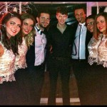 The McGL dancers with two of the TOWIE cast