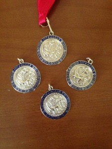 Gavina's four GOLD All Ireland Medals!